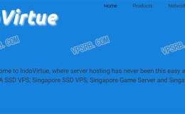 Indovirtue新加坡,KVM/512M/1核/20G SSD/500G流量/月付7美元